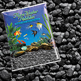 Pure Water Pebbles® Jet Black Aquarium Pebbles