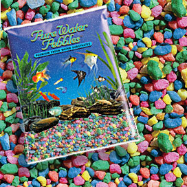 Pure Water Pebbles® Neon Rainbow Aquarium Pebbles